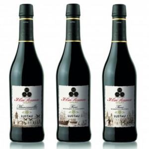 Las tres botellas en rama elaboradas por Lustau