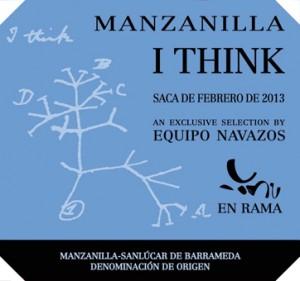Etiqueta de la Manzanilla I THINK del Equipo Navazos