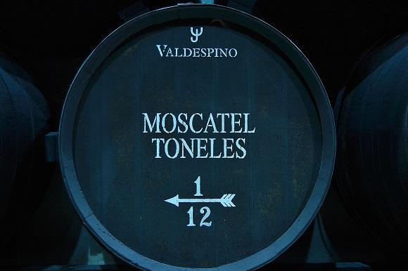 Bota de crianza del Moscatel Viejísimo Toneles