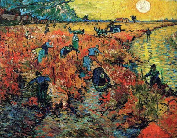 "Obra de Van Gogh ""Red Vineyards"""