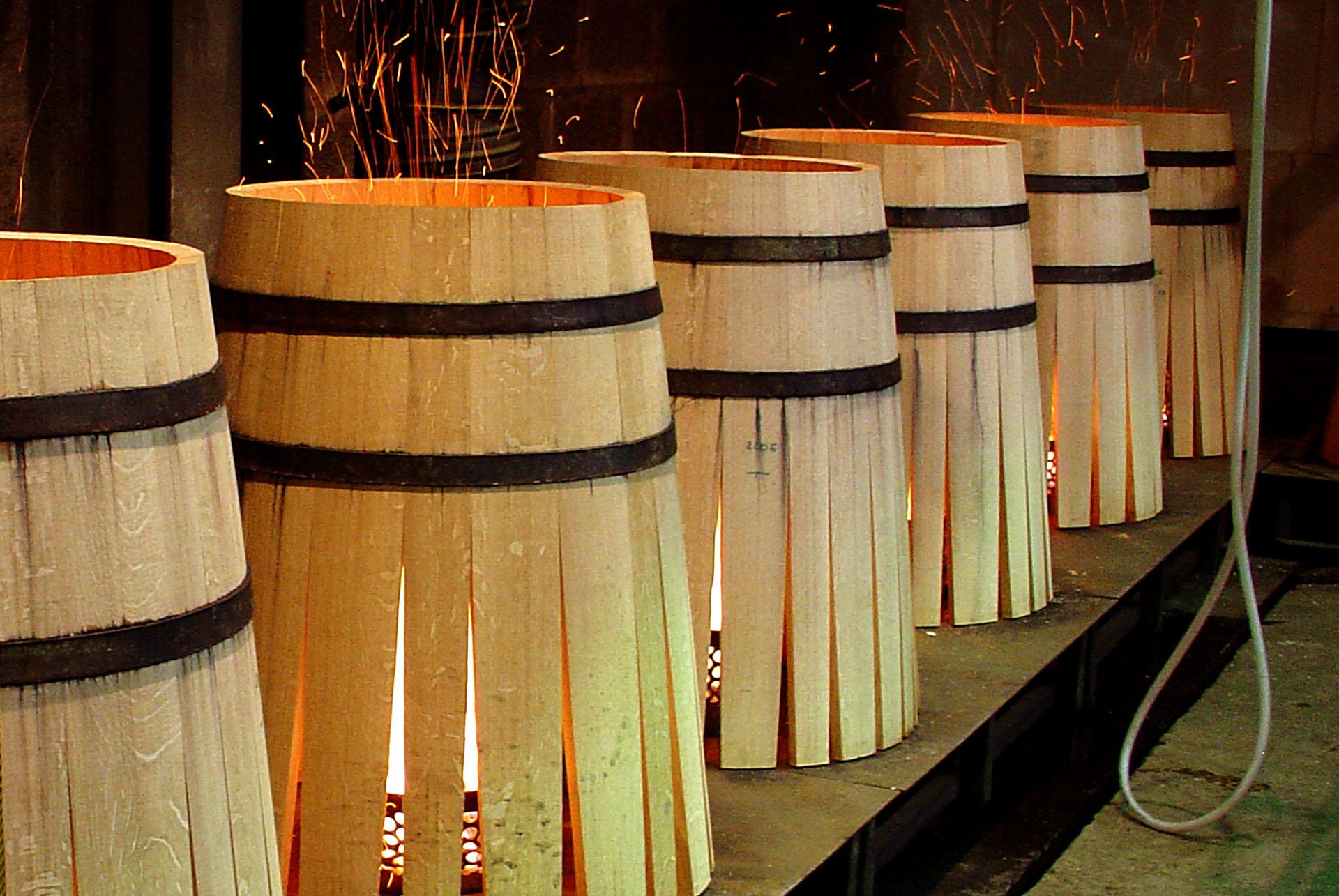 tostado madera barricas