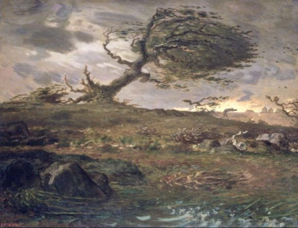 The Gust of Wind, obra pictórica de Jean François Millet
