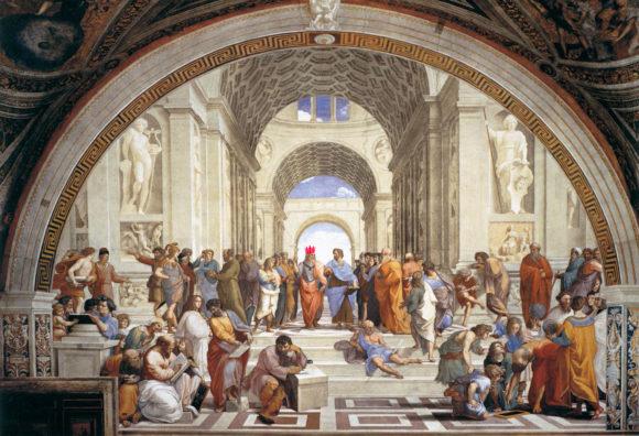 'La escuela de Atenas' obra de Rafael Sanzio