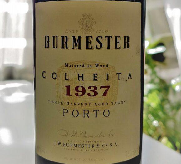 Etiqueta de la botella de Burmester Colheita 1937