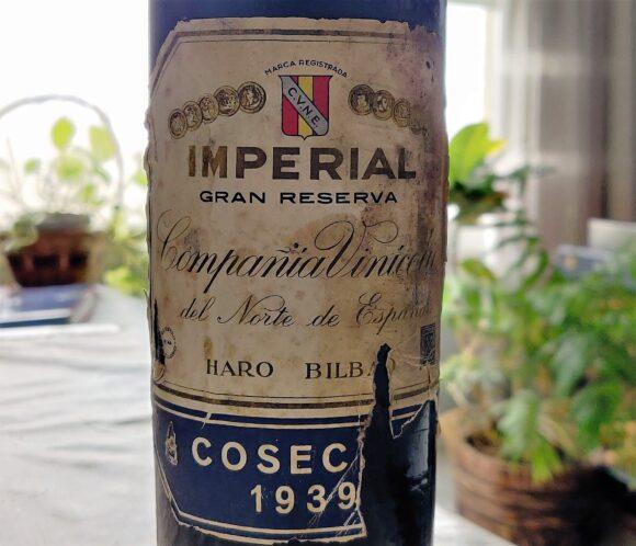 Etiqueta de Imperial Gran Reserva 1939