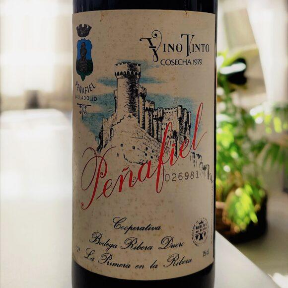 Etiqueta de la botella Peñafiel Reserva 1979