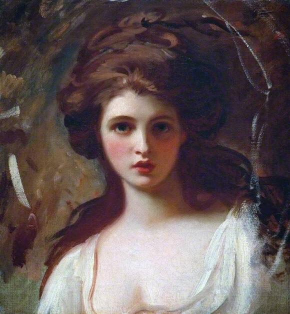 Retrato de Lady Hamilton, obra de  George Romney