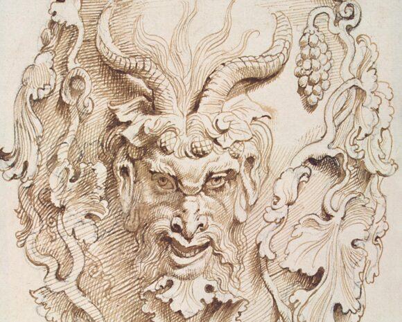 Detalle del dibujo atribuido a Rubens de la copa a la que dio nombre.